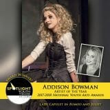 Award - Artist of the Year - Addison Bowman - Romeo and Juliet