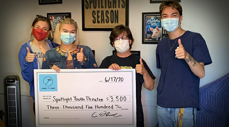 Spotlight Youth Theatre thanks Cabaret for Change