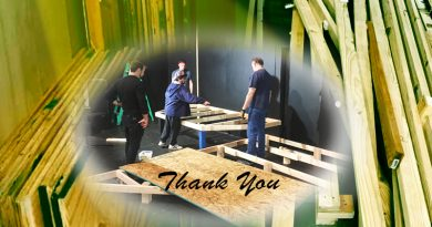 Spotlight thanks Phoenix Conservatory of Music for lumber donation