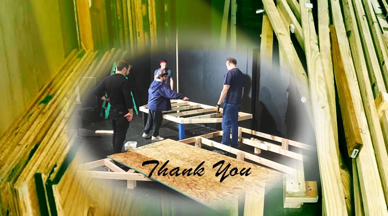 Spotlight thanks Phoenix Conservatory of Music for lumber donation