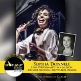 Award - Lead Performance in a Musical - Sophia Donnell - Cabaret-160