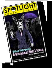Playbill for A Midsummer Night's Dream at Spotlight Youth Theatre