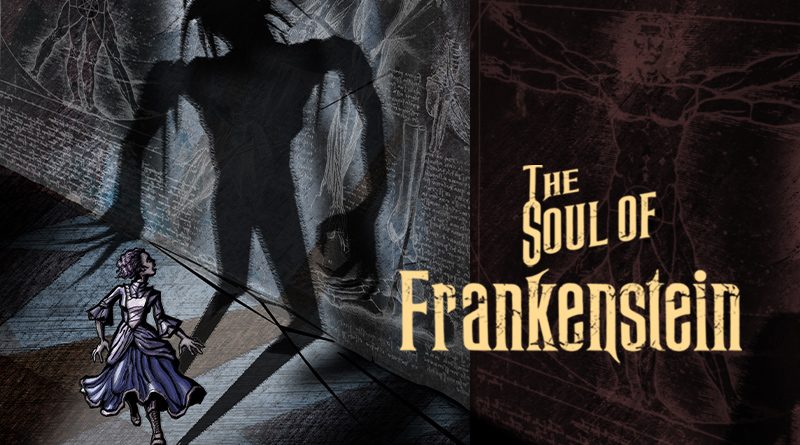 The Soul of Frankenstein produced by Spotlight Youth Theatre, poster by Bobby Sample