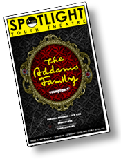 The Addams Family Young at Part Playbill, Spotlight Youth Theatre